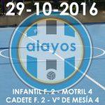 Partidos del 29-10-2016