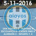Partidos del 5-11-2016
