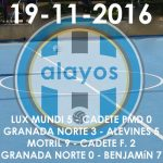 Partidos del 19-11-2016