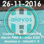 Partidos de la jornada del 26-11-2016