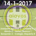 Partidos de la jornada del 14-1-2017