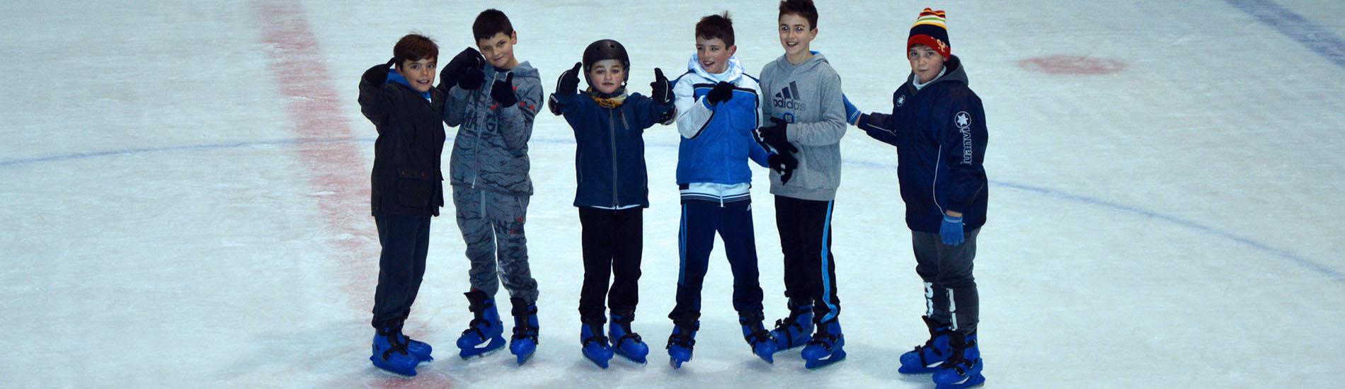 Los de 4º y 5º de EP patinaron sobre hielo