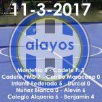 Partidos del 11-3-2017